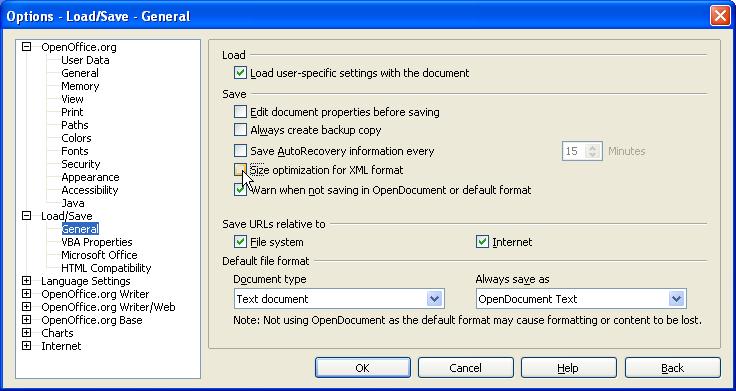 how to open xml file in openoffice
